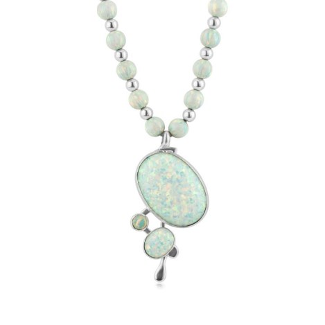 Gold and Silver WhiteOpal Necklace | Image 1