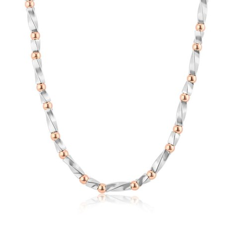 Rose Gold and Silver Twist Necklace | Image 1