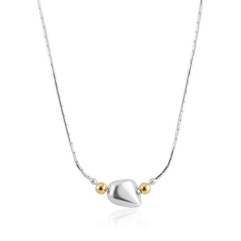 Gold and Silver Single Nugget Necklace | Image 1