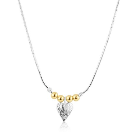 Gold and Silver Heart Necklace | Image 1