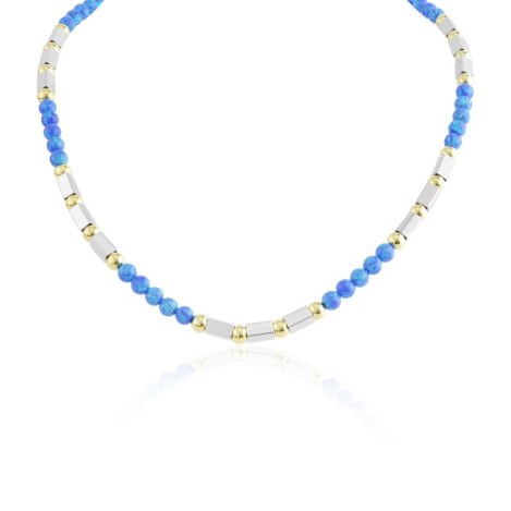 Gold and silver opal necklace | Image 1