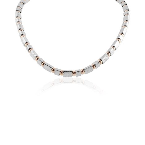 Rose gold and silver necklace | Image 1