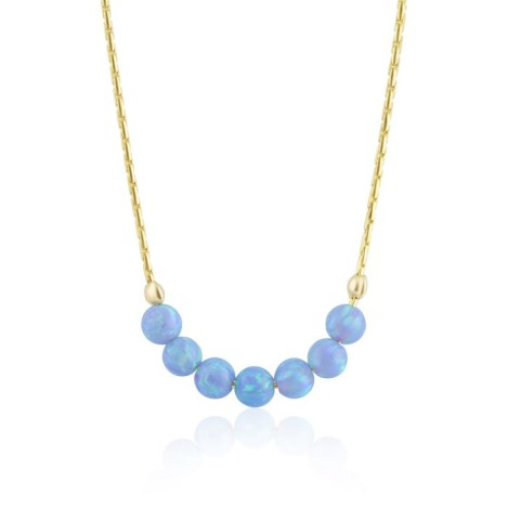 Gold blue opal necklace | Image 1