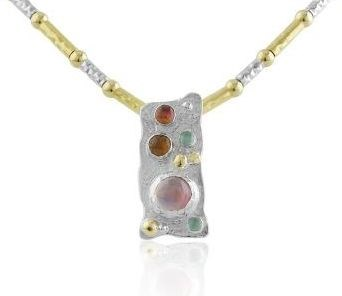 Gold and silver tourmaline necklace | Image 1