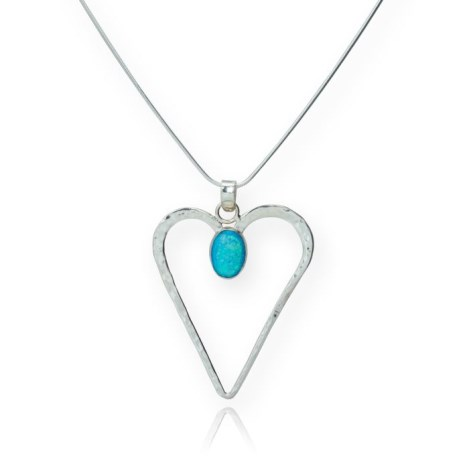 Serling Silver Opal Heart Pendant was £125.00 now £85.00 | Image 1