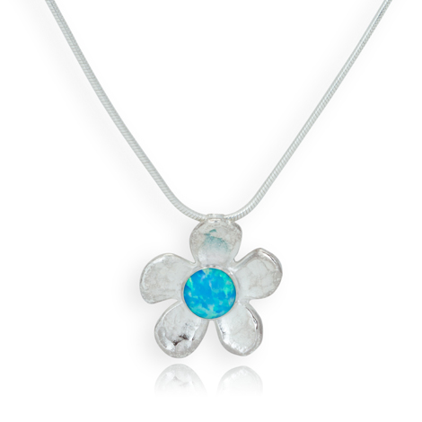 Sterling Silver Opal Daisy Pendant was £95.00 now £75.00 | Image 1