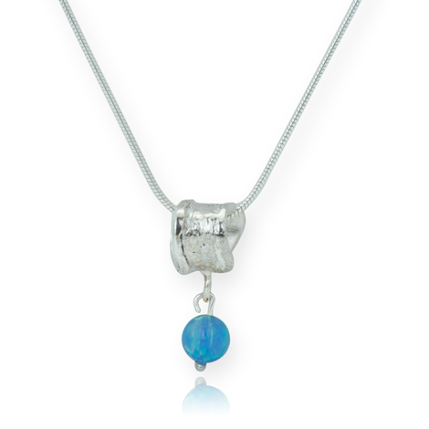Silver and Blue Opal Pendant | Image 1