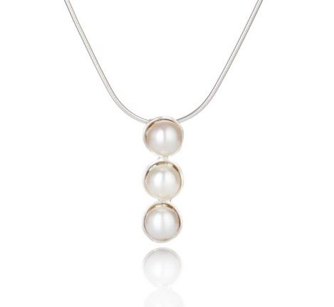 Silver and Pearl Pendant | Image 1