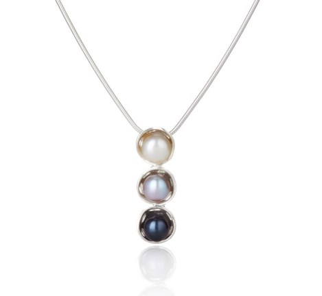 Silver and Multi Pearl Pendant | Image 1