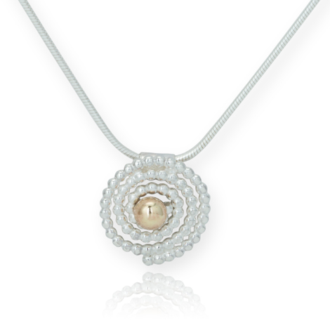 Silver and Gold Swirl Pendant WAS £95.00 NOW £75.00 | Image 1