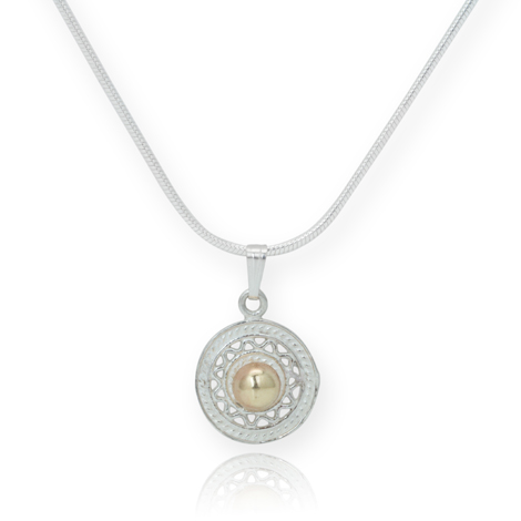 Gold and Silver Filigree Pendant WAS £85 NOW £50 | Image 1