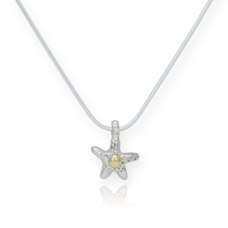 Gold and Silver Starfish Pendant  | Image 1