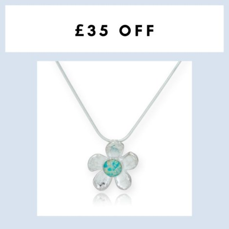 Sterling Silver Opal Daisy Pendant WAS £95.00 NOW 75.00 | Image 1