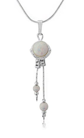 Sterling Silver White Opal Pendant | Image 1