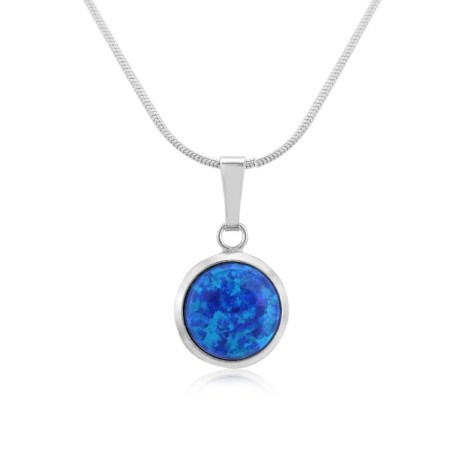 8mm Midnight Blue Opal Pendant | Image 1