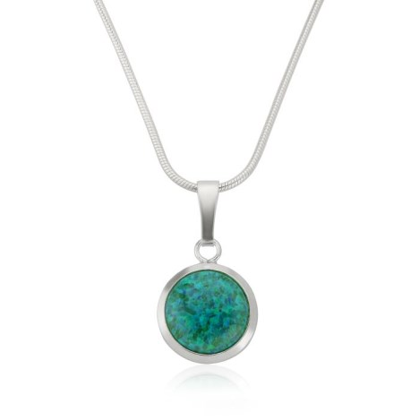 8mm Forest Green Opal Pendant | Image 1