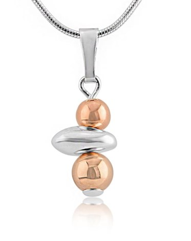 Rose Gold and Silver Nugget Pendant | Image 1