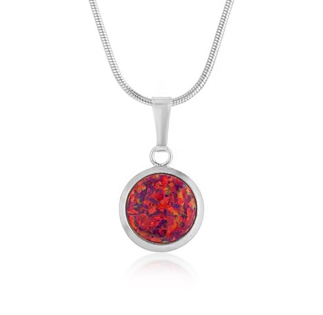 8mm Red Opal Pendant | Image 1