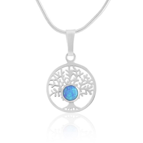 Sterling silver Tree Of Life opal pendant | Image 1