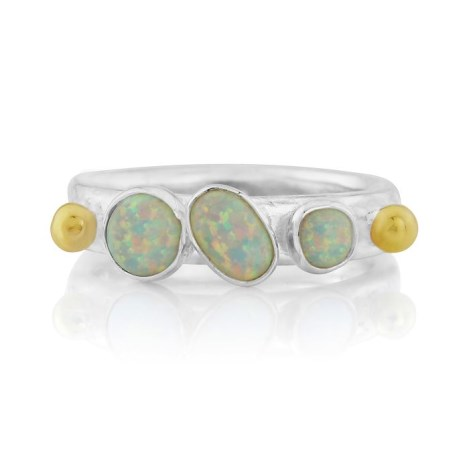Silver, Opal and Gold Ring | Image 1