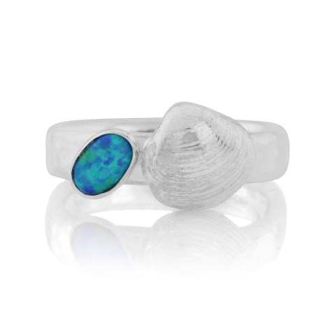 Silver Shell Opal Ring | Image 1