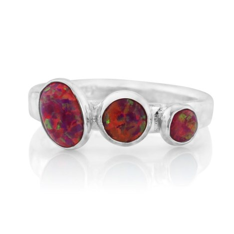 Silver Red Opal Ring | Image 1