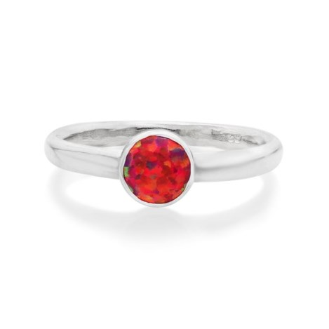Sterling Silver Red Opal Ring  | Image 1