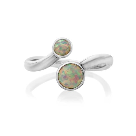 Adjustable Sterling Silver White Opal Ring | Image 1