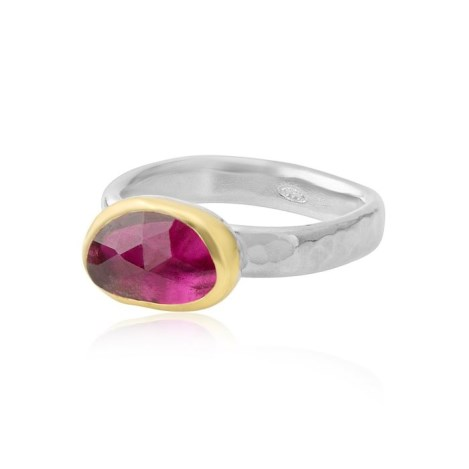 Gold and Silver Tourmaline Ring | Image 1