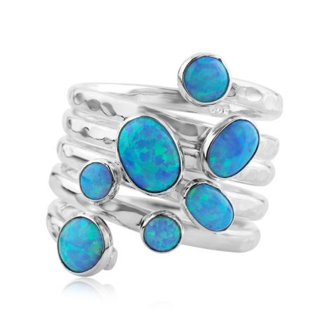 Silver Multistone Opal Ring | Image 1