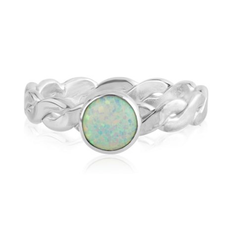Handmade Sterling Silver White  Opal Ring | Image 1