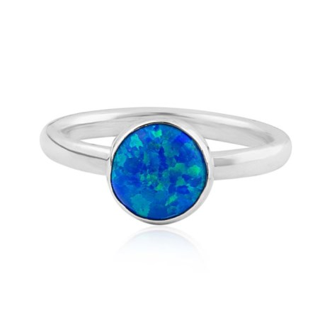 Sterling Silver and Dark Blue Opal Ring | Image 1