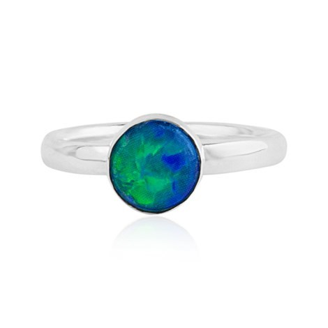 Sterling Silver and Blue Opal Ring | Image 1