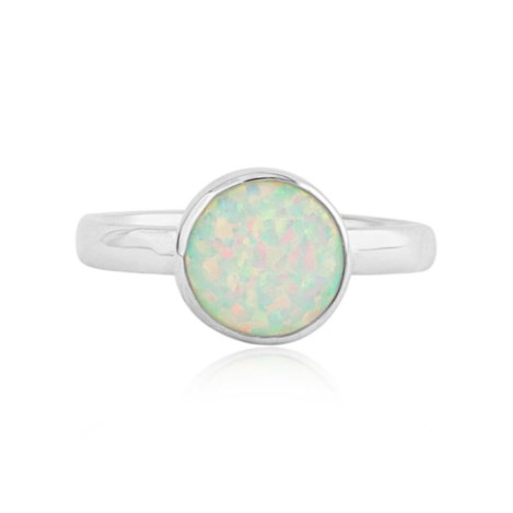 Sterling Silver and White Opal Ring | Image 1