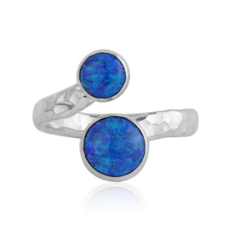 Silver and Midnight Blue Opal Ring | Image 1