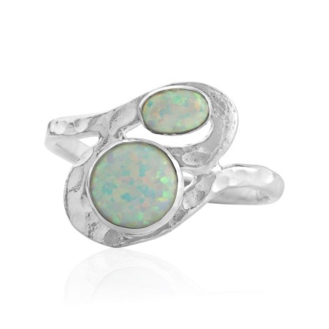 Silver and white  opal ring | Image 1