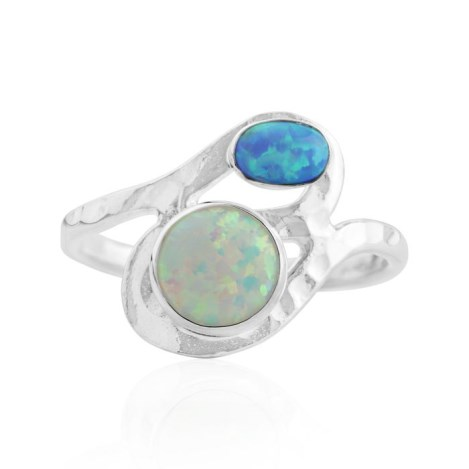 Silver and pink opal ring | Image 1