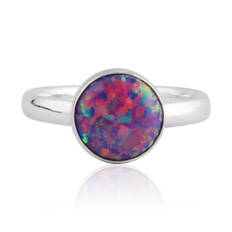 Sterling silver and purple opal ring | Image 1