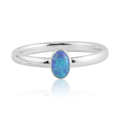 Blue opal silver ring  | Image 1
