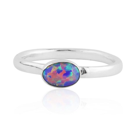 Purple opal silver ring  | Image 1