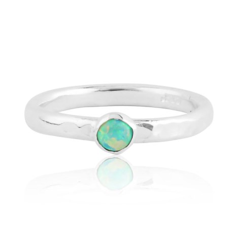 Green opal silver ring  | Image 1