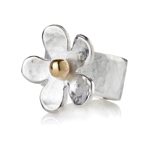Gold and Silver Daisy Ring | Image 1