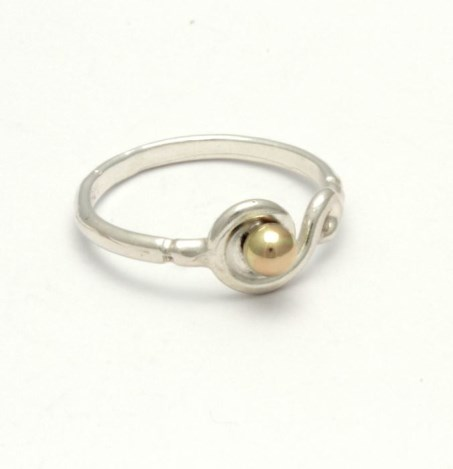 Gold and Silver  Spiral Ring | Image 1