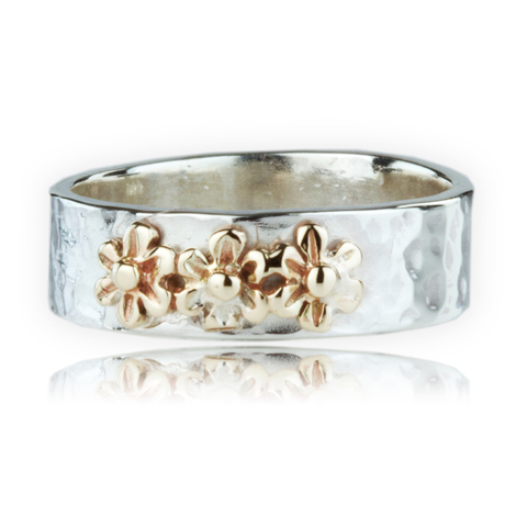Gold and Silver Flower Ring | Image 1