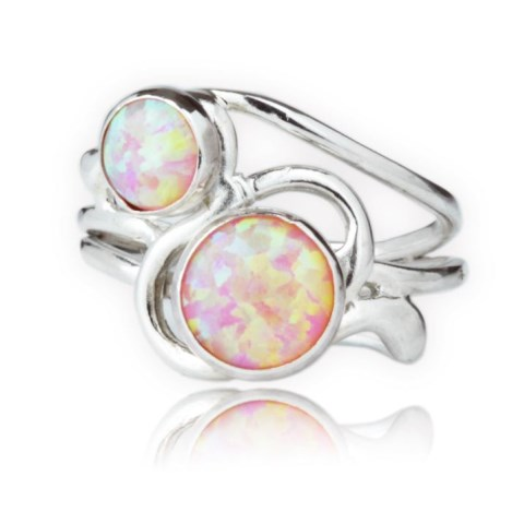 Silver and Purple Opal Ring | Image 1