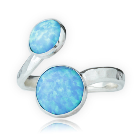 Silver and Blue Opal Ring | Image 1