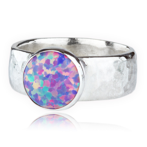Contemporary Silver Opal Ring | Image 1