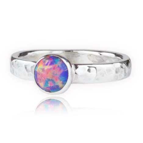 Handmade Sterling Silver Purple Opal Ring | Image 1