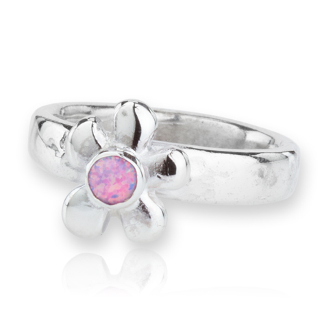 Sterling Silver Purple Opal Daisy Ring | Image 1