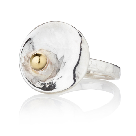 Sterling Silver and 9ct Oyster Ring | Image 1